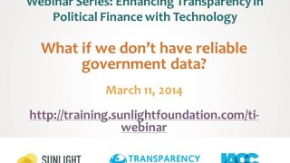 Enhancing transparency in political finance with technology (II)